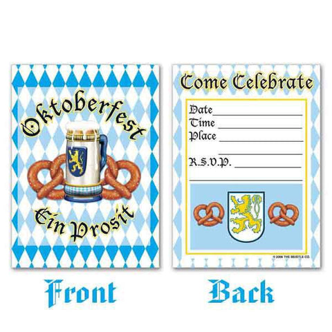Bavarian Themed Oktoberfest Party Invitations - GermanGiftOutlet.com