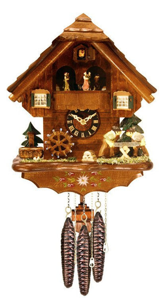 "River City Clocks One Day Musical 14"" German Cuckoo Clock with Men who Saw Wood - GermanGiftOutlet.com  - 1"