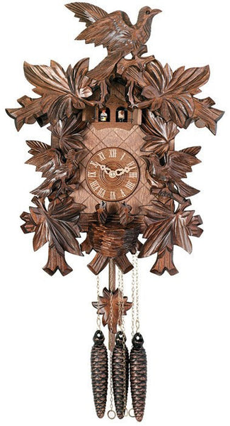 "One Day Musical 15"" German Cuckoo Clock with Three Birds and Nest From River City Clocks - GermanGiftOutlet.com"