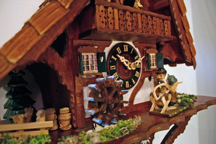 "River City Clocks One Day Musical 17"" German Cuckoo Clock Man Saws Wood - GermanGiftOutlet.com  - 2"