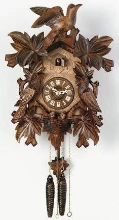 River City Clocks One Day Seven Leaves Three Birds with Nest German Cuckoo Clock - GermanGiftOutlet.com
