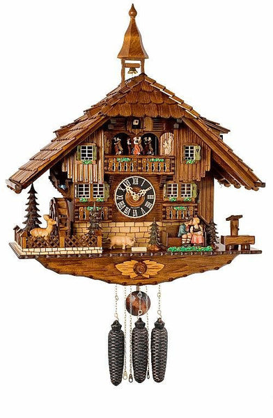 "River City Clocks Eight Day Musical 23"" German Cuckoo Clock Kissing Lovers - GermanGiftOutlet.com"