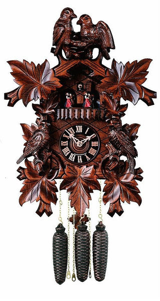 "River City Eight Day 18"" Musical German Cuckoo Clock with Four Carved Birds - GermanGiftOutlet.com"