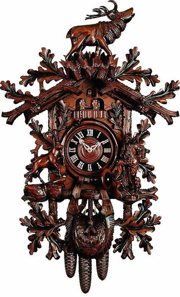 "River City Eight Day Musical 33"" German Cuckoo Clock with Woodsman and Ram - GermanGiftOutlet.com"