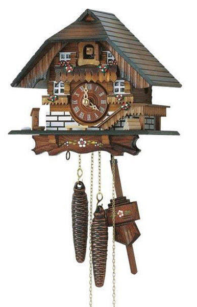 "Schneider 8"" Black Forest Farmhouse German Cuckoo Clock - GermanGiftOutlet.com"