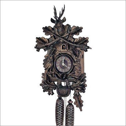 "Schneider 14"" Black Forest Hunter Theme German Cuckoo Clock - GermanGiftOutlet.com  - 1"