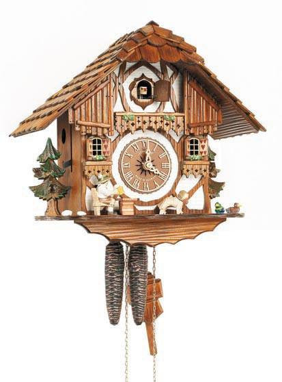 "Schneider 11"" Black Forest Beer Drinker German Cuckoo Clock - GermanGiftOutlet.com"