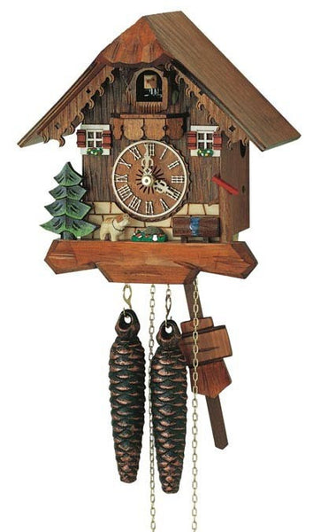 "Schneider 8"" Black Forest Puppy German Cuckoo Clock - GermanGiftOutlet.com"