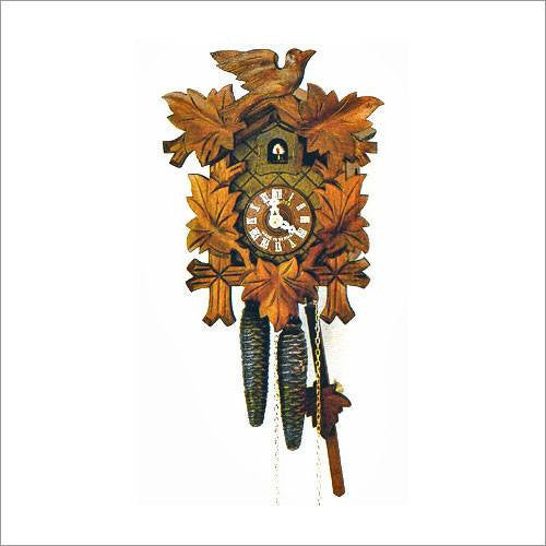 "Schneider Black Forest 13"" Three Birds Almond Colored Eight Day Movement German Cuckoo Clock - GermanGiftOutlet.com"