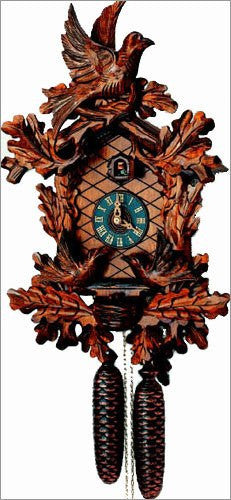 "Schneider 19"" Moving Birds Eight Day Movement Black Forest German Cuckoo Clock - GermanGiftOutlet.com"