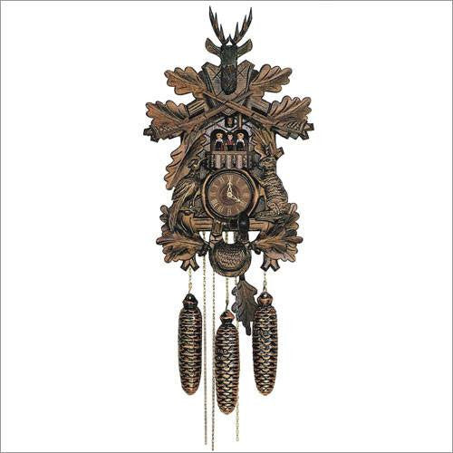 "Schneider Black Forest 23"" Musical Antique Hunter Theme Eight Day Movement German Cuckoo Clock - GermanGiftOutlet.com  - 1"