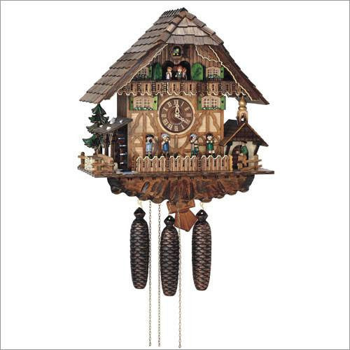 "Schneider Black Forest 18"" Musical Musicians and Bell Ringer Eight Day Movement German Cuckoo Clock - GermanGiftOutlet.com  - 1"
