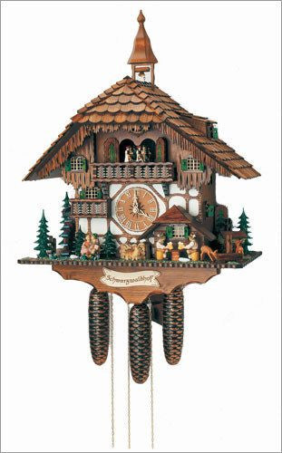 "Schneider 23"" Musical Kissing Couple Eight Day German Cuckoo Clock - GermanGiftOutlet.com  - 1"