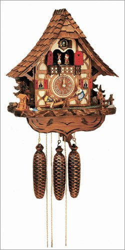 "Schneider Black Forest 17"" Musical Children on Teeter-totter Eight Day Movement German Cuckoo Clock - GermanGiftOutlet.com  - 1"