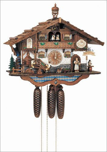 "Schneider Black Forest 17"" Musical Beer Garden Eight Day Movement German Cuckoo Clock - GermanGiftOutlet.com  - 1"