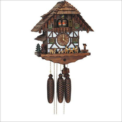 "Schneider Black Forest 16"" Musical Beer Drinkers Eight Day German Cuckoo Clock - GermanGiftOutlet.com  - 1"