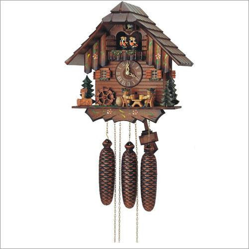 "Schneider Black Forest 12"" Musical Four German Beer Drinkers Eight Day Movement German Cuckoo Clock - GermanGiftOutlet.com  - 1"