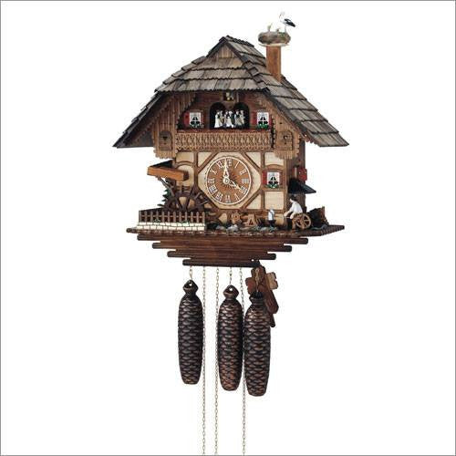 "Schneider 17"" Musical Blacksmith Eight Day Movement German Cuckoo Clock - GermanGiftOutlet.com  - 1"