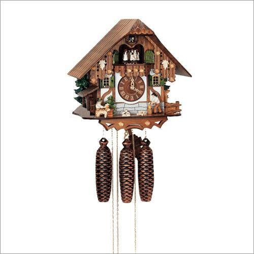 "Schneider Black Forest 13"" Musical Wood Chopper and Beer Drinker Eight Day German Cuckoo Clock - GermanGiftOutlet.com"