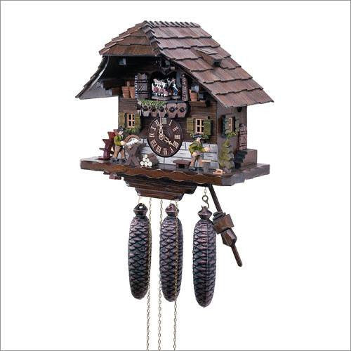 "Schneider Black Forest 13"" Musical Wood Chopper and Sawyer Eight Day Movement German Cuckoo Clock - GermanGiftOutlet.com  - 1"