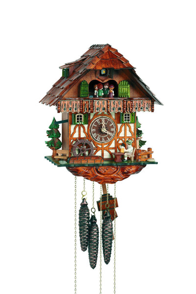 "Schneider Black Forest 14"" Musical Alpine Home German Cuckoo Clock - GermanGiftOutlet.com"