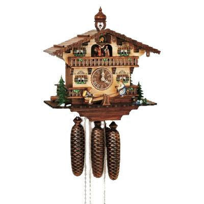 "Schneider Black Forest 13"" Musical Children on Teeter Totter Eight Day Movement German Cuckoo Clock - GermanGiftOutlet.com  - 1"