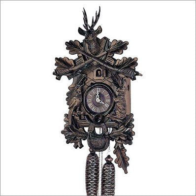 "Schneider 19"" Black Forest Hunter Theme Eight Day Movement German Cuckoo Clock - GermanGiftOutlet.com  - 1"