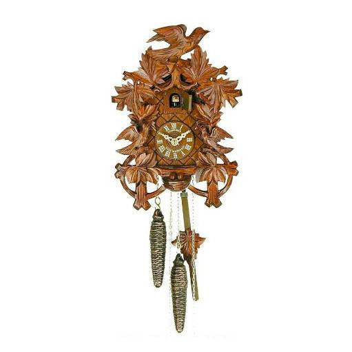 "Schneider 11"" Eight Leaves and Three Birds Black Forest German Cuckoo Clock - GermanGiftOutlet.com"