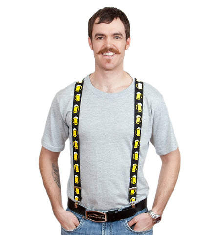 Oktoberfest Costume Suspenders: Mugs - GermanGiftOutlet.com  - 1