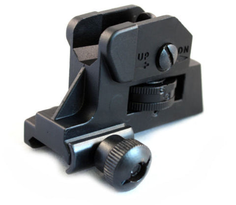 .223 Tactical Fixed Rear Battle Combat Sight Dual Aperture for Flat Top Rifle