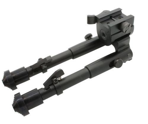 Tactical Rifle Bipod Button Lock 7.5 to 9 inch