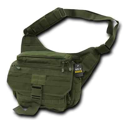 Tactical Military Shoulder Messenger Bag CCW OD Green