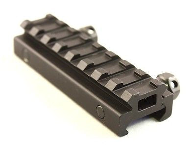 "1/2"" Half Inch 8 Slot Riser Mount See-Through Design for Flat Top Rifles"