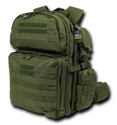 Military Assault Pack, Tactical Rex (T-Rex) Camping Hiking Hunting, OD GREEN