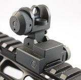 Tactical Rear Flip Up Sight .223 .308 for Flat Top Rifles Easy Zero