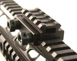 "1/2"" Half Inch 4 Slot Riser Mount Compact See-Through Design for Flat Top Rifles"