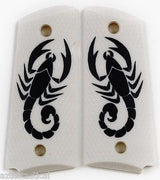 Scorpion on Matte Faux Ivory Compact 1911
