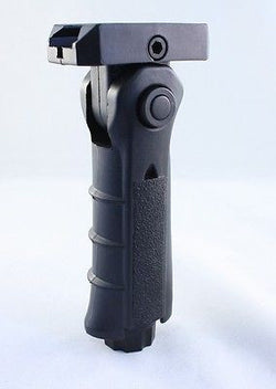 Tactical 5 Position Folding Foregrip Grip Pressure Switch Housing & Storage
