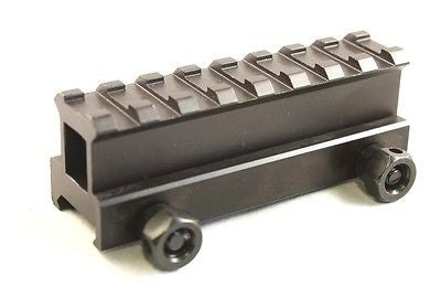 "1"" Inch 8 Slot Riser Mount See-Through Design for Flat Top Rifles"