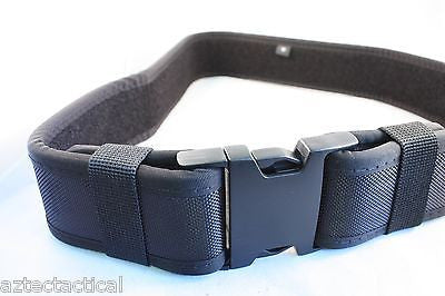 Duty Belt Black Tactical EMT SWAT SECURITY POLICE Utility Belt