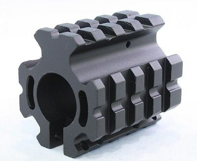 Low Profile Quad Rail Gas Block for .223 Rifles fits .75 inch Barrels