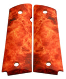 Custom Full Size 1911 Grips Real Flames