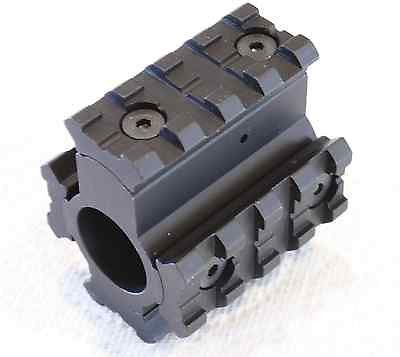 New .223 .556 Tactical Quad Rail Gas Block Mount w/ Removable Rails
