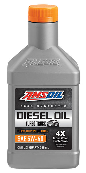 Amsoil Heavy-Duty Synthetic Diesel Oil 5W-40 1 Qt. - Warranty Killer Performance