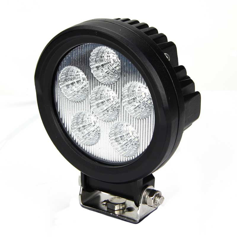 Aftershock Series LED Work Light 4inch - 18W - Food Beam - Black - Warranty Killer Performance