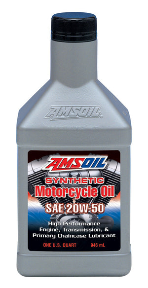 Amsoil 20W-50 Synthetic Motorcycle Oil 1 Qt. - Warranty Killer Performance