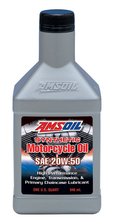 Amsoil 20W-50 Synthetic Motorcycle Oil 1 Qt.