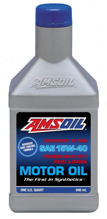 Amsoil SAE 15W-40 Heavy-Duty Diesel and Marine Synthetic Motor Oil - Warranty Killer Performance