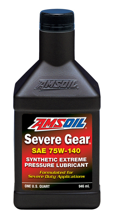 Amsoil Severe Gear® 75W-140 Synthetic Extreme Pressure Lubricant 1 Qt. - Warranty Killer Performance