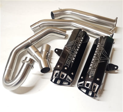 Empire Industries 15 + Yamaha Raptor 700 Dual Exhaust-Stainless Steel